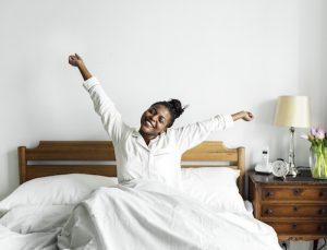 wake up full of energy