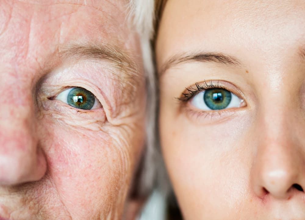 two generations of green eyes