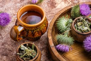 natural flowers and tea for healing