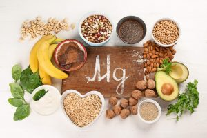 Health benefits of magnesium. An assortment of magnesium rich foods.