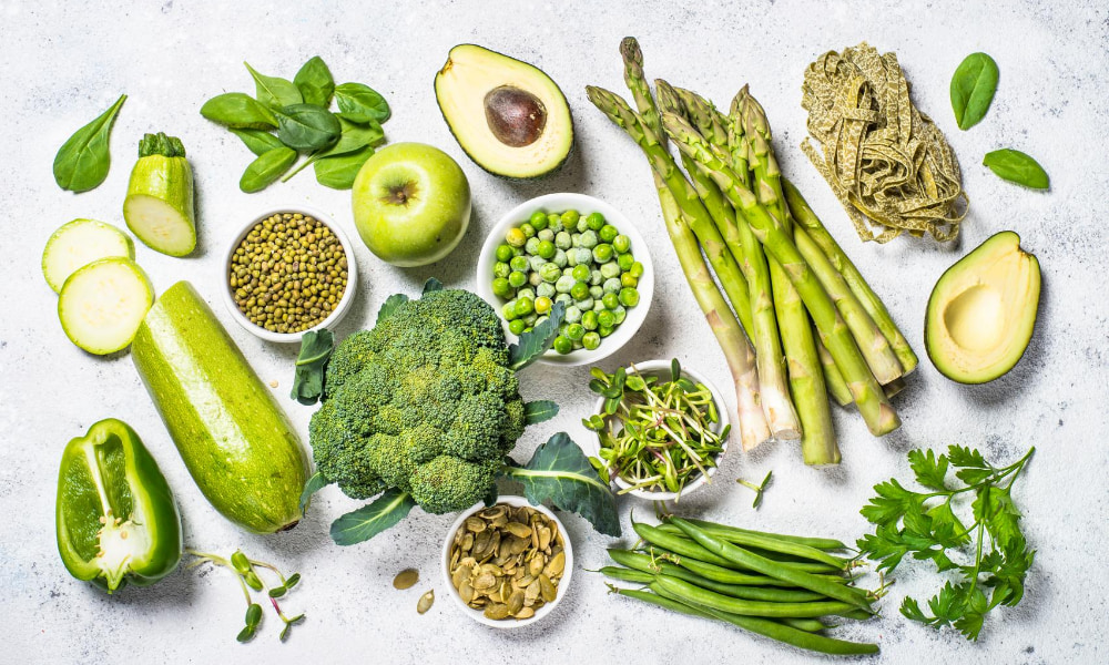 green food to balance your hormones naturally