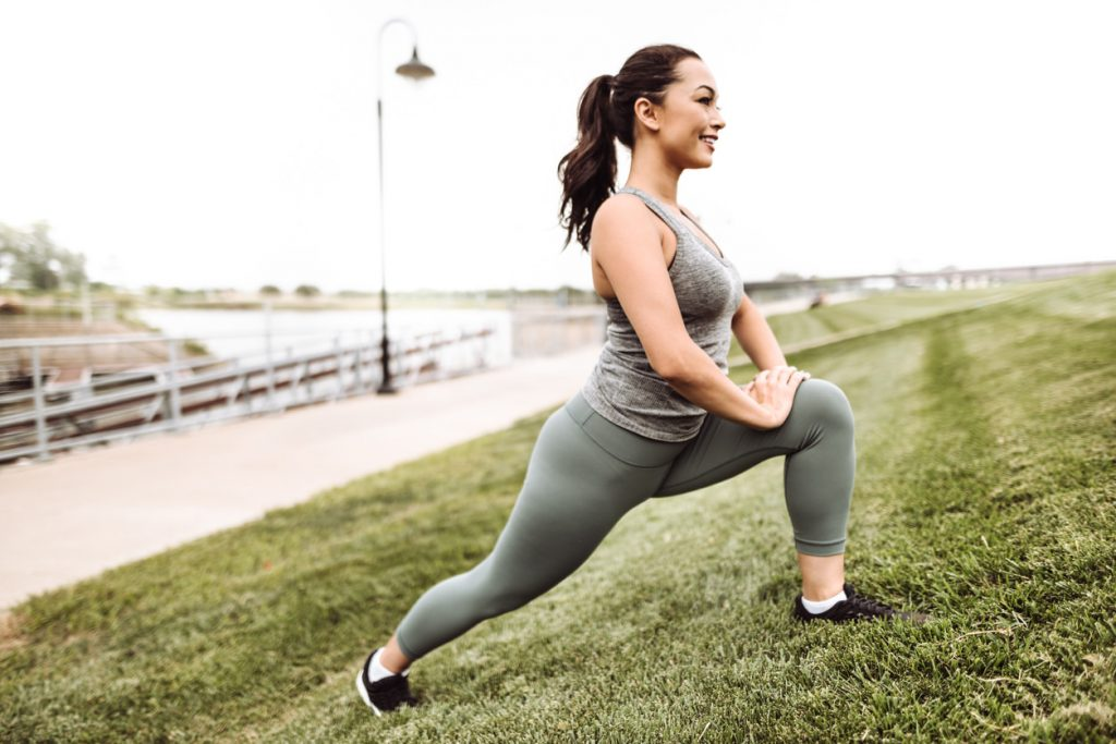 woman exercising for holistic living