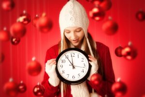 woman holiday shopping deadline