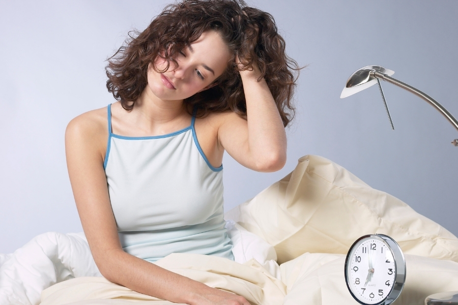 women feeling Fatigue