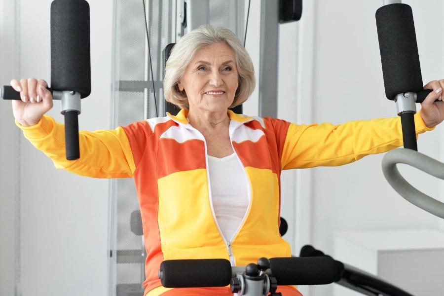 elderly woman exercising