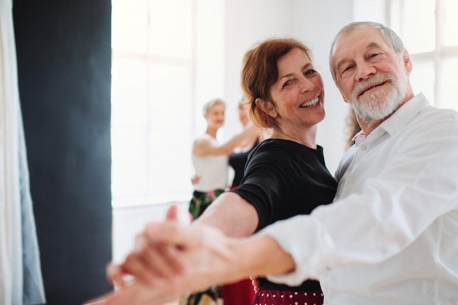 Health Benefits of Dancing to Elderly Couple