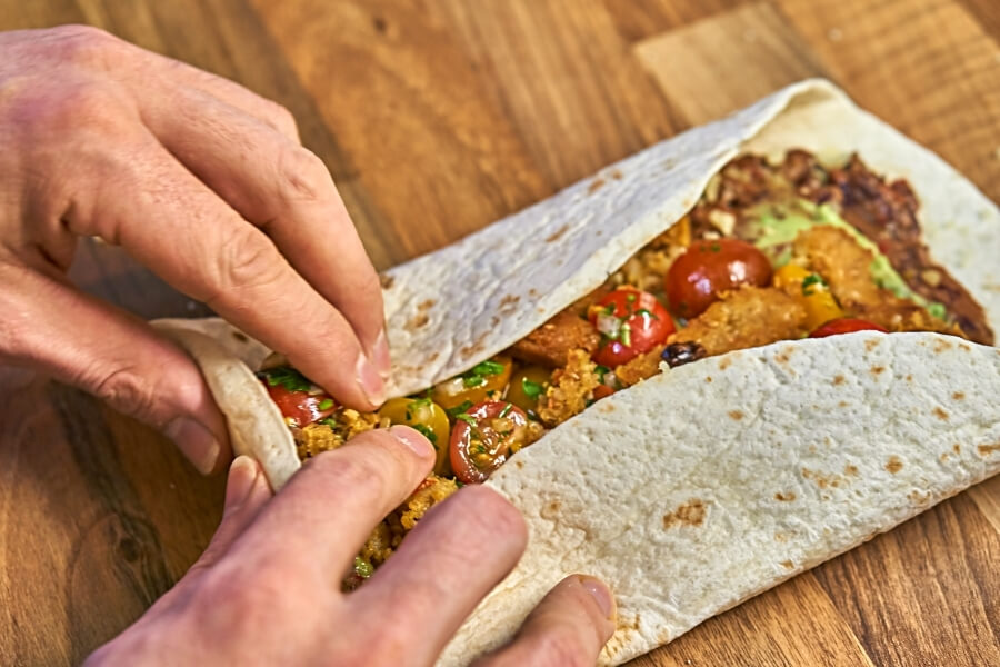 Easy made Delicious Burritos